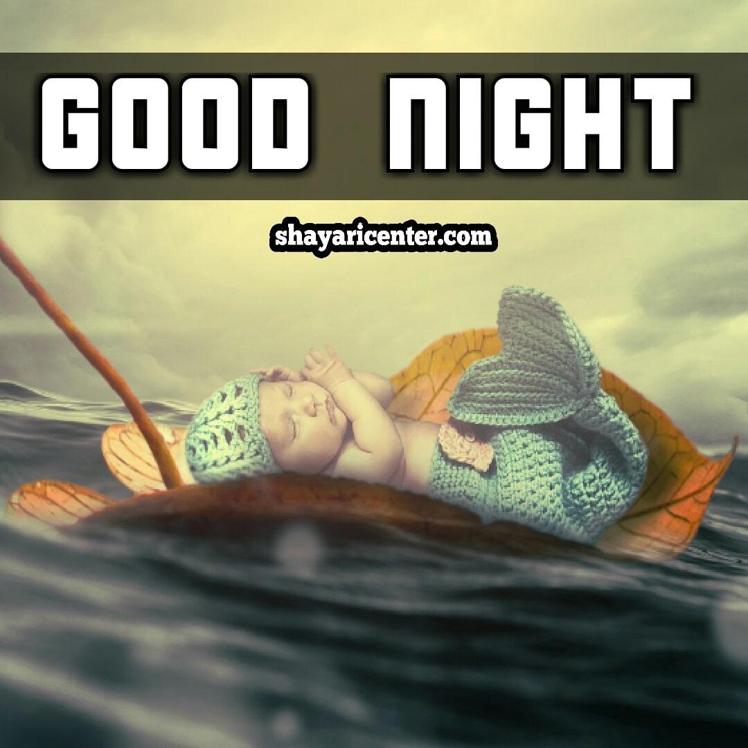 good night shayari image romantic